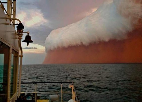 Twitter / Earth_Pics: Dust storm in the Indian Ocean ...