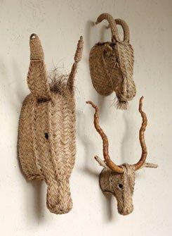 Esparto Grass Animal Heads
