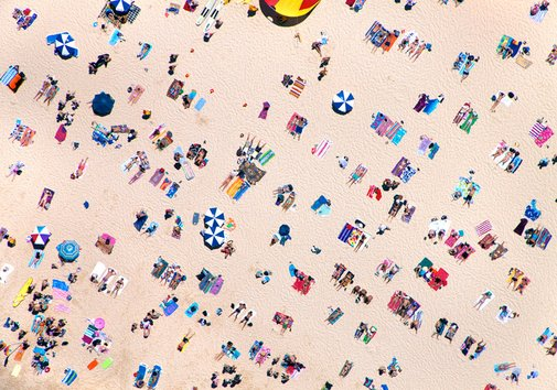 Aerial Beach Photographs by Gray Malin