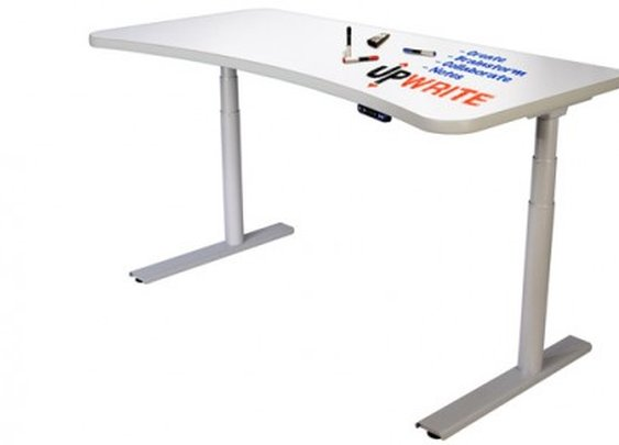 UpWrite whiteboard desk works whether sitting or standing