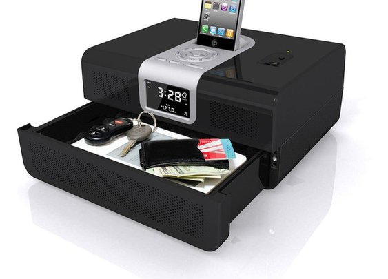Biometric Fingerprint Vault Smartphone Docking Station | Urbasm.com