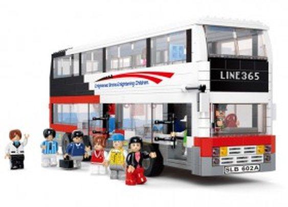 Luxury Tourist Bus - LEGO Compatible