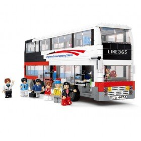 Luxury Tourist Bus - LEGO Compatible