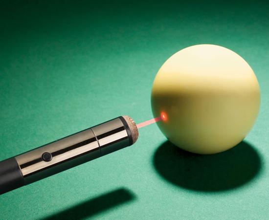 Laser Tip Pool Cue