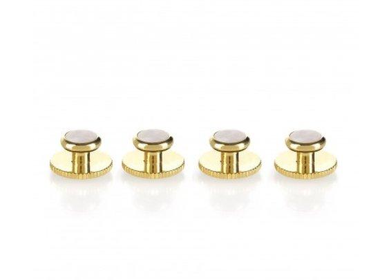 Gentleman's Studs (Gold & Pearl)