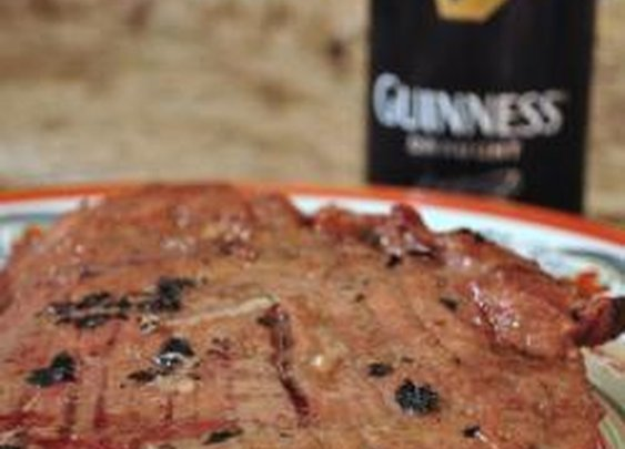 Grilled Flank Steak with Guinness Beer Marinade