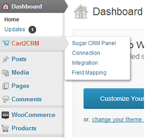 Cart2CRM - Woocommerce Plugins and SugarCRM Account