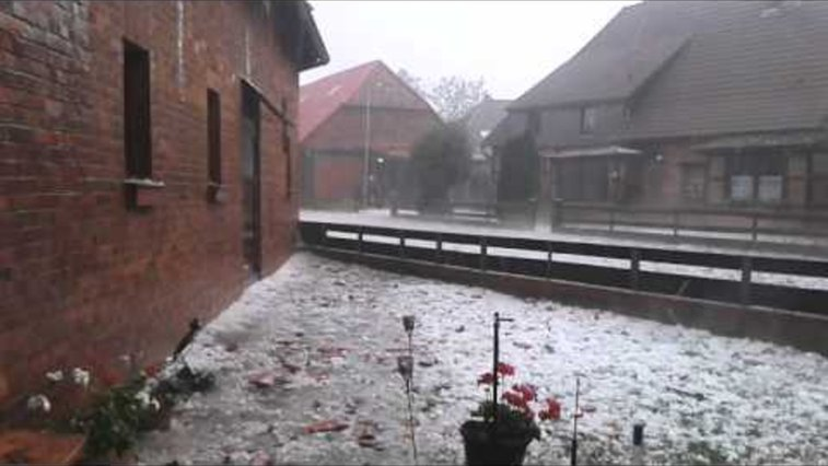 Watch this German village get trounced by a freak hail storm