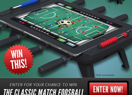 Classic Match Foosball Sweepstakes