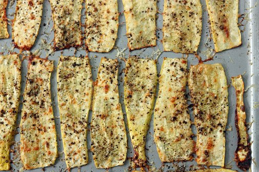 30 Pounds of Apples » Peppered Parmesan Squash Strips