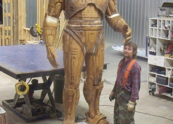See a prototype of Detroit's ten-foot-tall RoboCop statue before it's cast in bronze