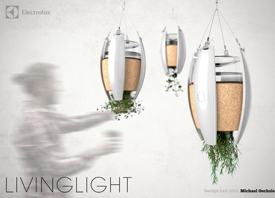 Living Light: Self powered lamps that grow herbs for cooking