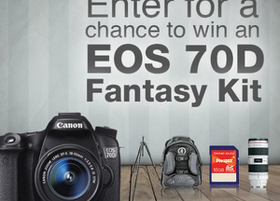 Canon Canada: Call your shot for a chance to win an EOS 70D Fantasy Kit!