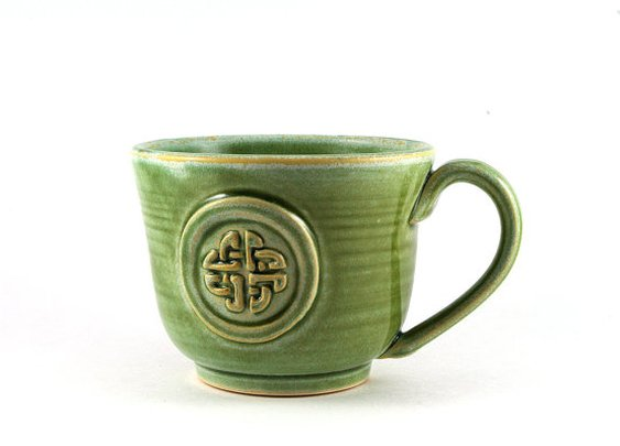 Green Celtic Knot Mug  | Etsy