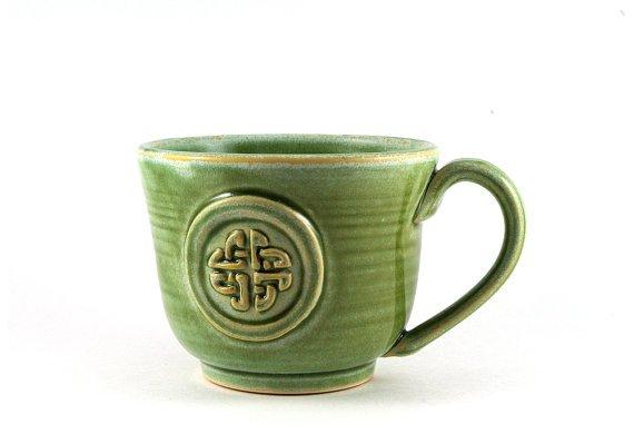 Green Celtic Knot Mug  | Etsy