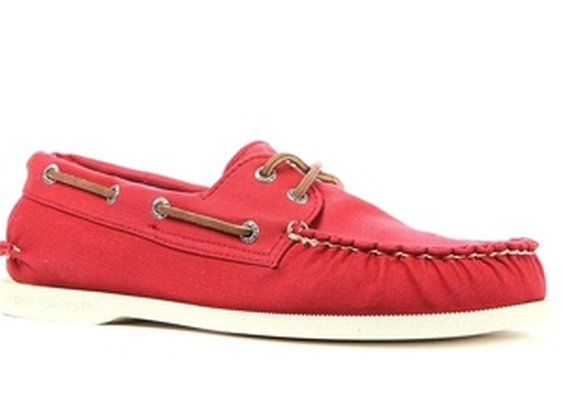 The A/O 2-Eye Canvas Boat Shoe