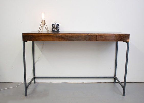 Walnut Desk  Modern and Simple Solid Walnut