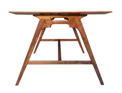 Modern Walnut Writing or Drafting Desk