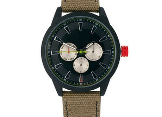 Color Detail Canvas Watch