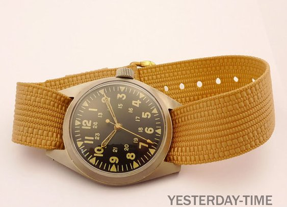 Benrus 1970 Vietnam Era Swiss 17 Jewel Stainless