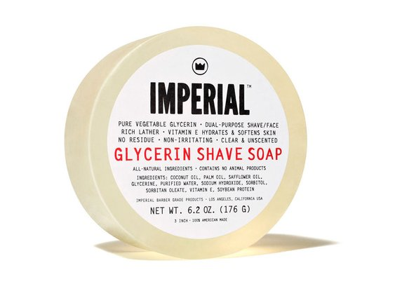 Glycerin Shave Soap Puck. 100% Natural Shave / Cleansing Puck | Imperial Barber Products