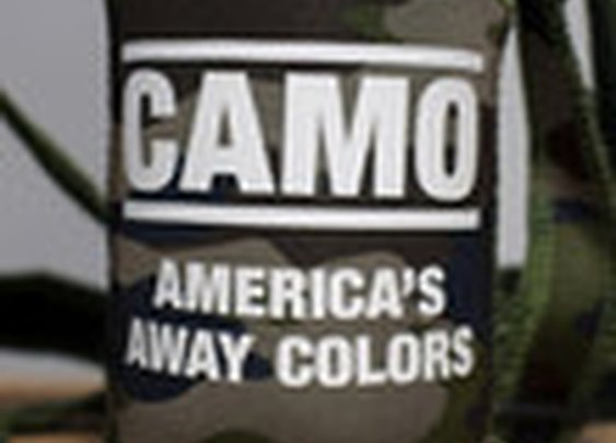 CAMO: America's Away Colors Neck Tie Koozie | Rowdy Gentleman