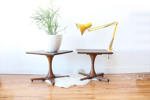 Modern Walnut Side Tables by GallivantingGirls