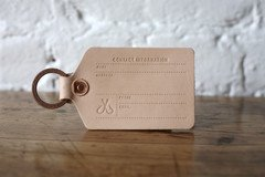 Luggage Tag   Corter Leather & Cloth