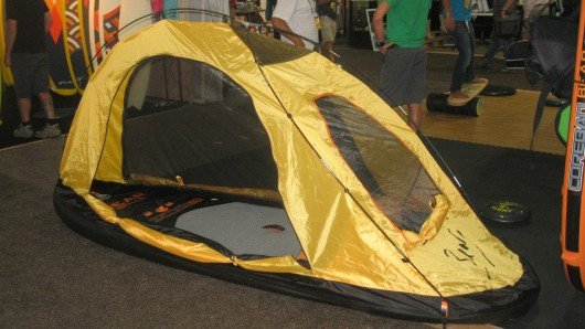Bear Grylls' stand-up paddleboard tent turns board into air mattress