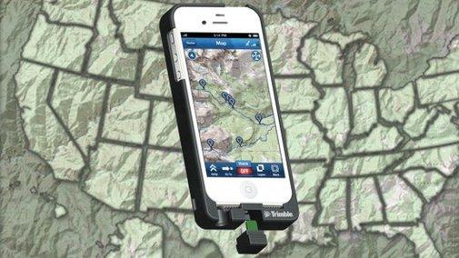 Trimble TopoCharger converts an iPhone into an outdoor GPS