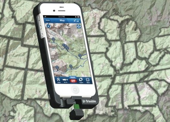 Trimble TopoCharger converts an iPhone into an outdoor GPS