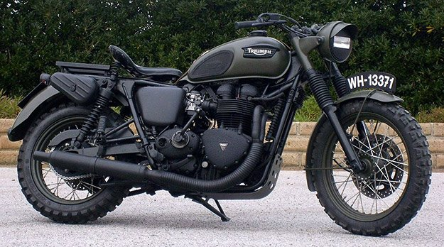 GasCap Motor's Blog: Military Triumph Bonneville by Drags & Racing Italy