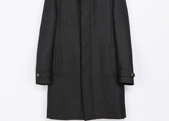 Structured Coat with Knitted Collar