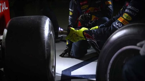 Ultra Fast Formula One Pit Stop in Slow Motion