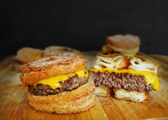 Bacon Jam Cronut Burger