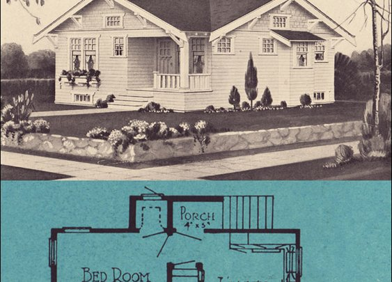 1920s Bungalows - Stetson & Post - Seattle Small House Plans - 1924 Cottage