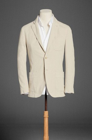 Dyed Cotton Blazer With Elbow Patch