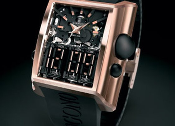 """Di Grisogno Meccanica: First Watch with All-Mechanical """"Digital"""" Display"""