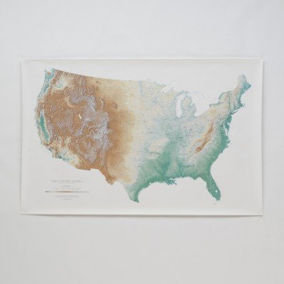 Topographic USA Wall Map   Schoolhouse Electric & Supply Co.