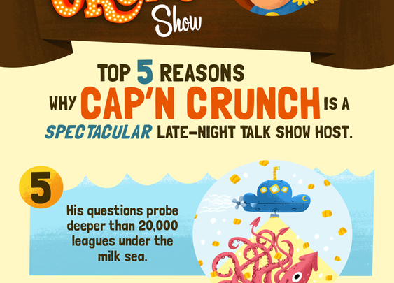 The Cap'n Crunch- 5 reasons he's a spectacular late night host