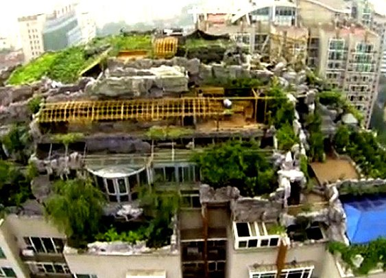 Video: Chinese businessman's illegal 'mountain-top lair' dismantled.