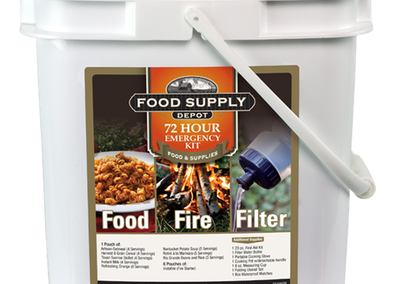 72hr Food, Fire, Filter Survival Kit Giveaway $149.95 Value Win Now!