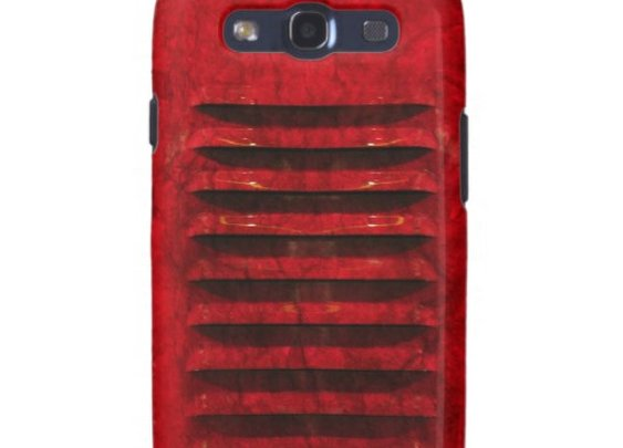 Samsung Galaxy S3 Hot Red Industrial Grill Cover Galaxy SIII Cover