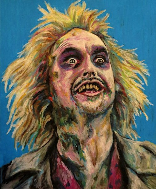 Beetlejuice Pop Art Print  11x14 Tim Burton by ARTWORKbyMALLORY