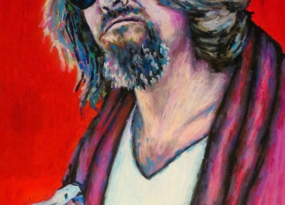 The Dude Pop Art Print  11x14 Portrait Poster by ARTWORKbyMALLORY