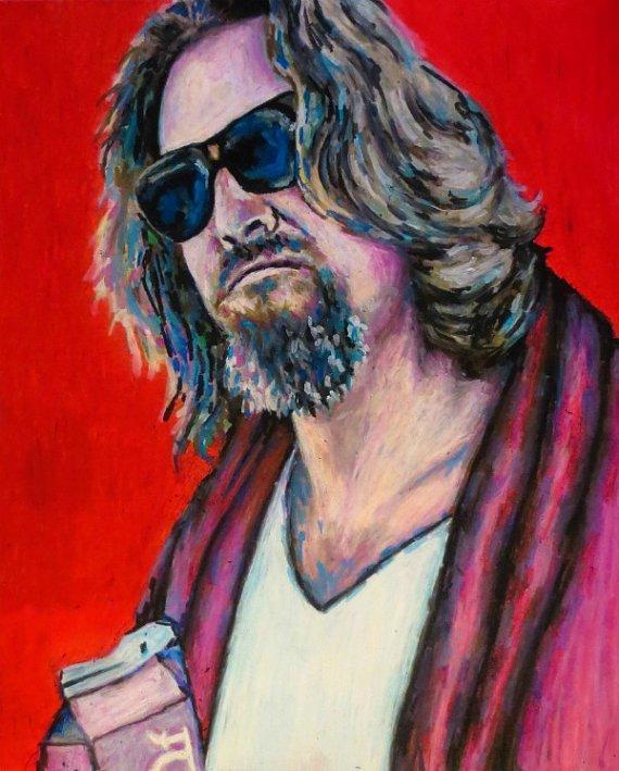 The Dude Pop Art Print  11x14 Portrait Poster by ARTWORKbyMALLORY