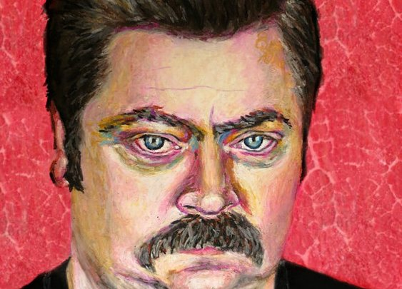 Ron Swanson Pop Art Print  11x14 Parks and by ARTWORKbyMALLORY