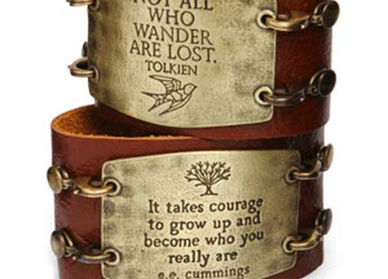 ThinkGeek :: Leather Statement Cuff