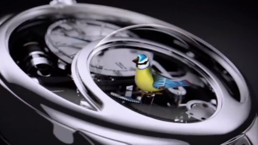 The Charming Bird watch is an automaton for your wrist
