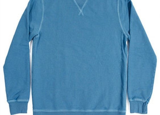Blue Agave Cotton & Linen Terry Crewneck